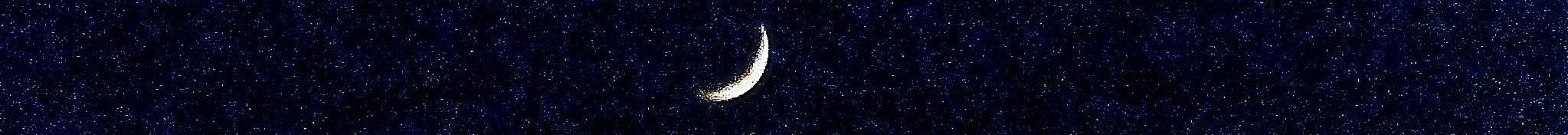 Smal maan en sterren